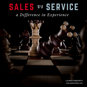 Sales vs Service – a Difference in Experience